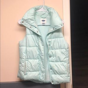 Baby blue puffy vest